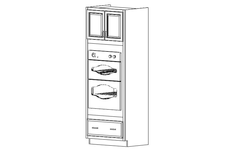 Brentwood Antique White RTA Cabinets: OC3390
